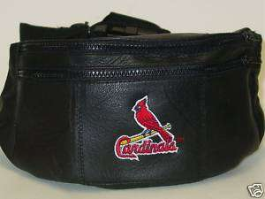 MLB Leather Fanny Pack, St. Louis Cardinals, NEW