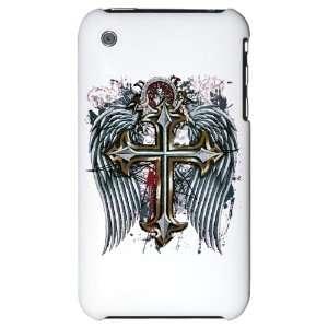 iPhone 3G Hard Case Cross Angel Wings