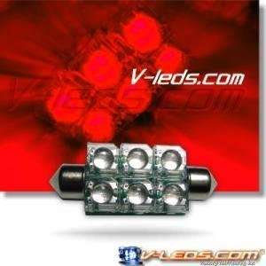 HIGH FLUX LED RED DOME LIGHT BULB 212 211 212 2 214 2 578 Automotive