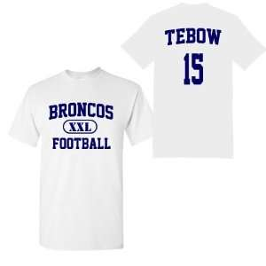 Tebow Name and Number White Adult and Youth T Shirt by BBG: Sports