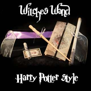 Harry Potter Style REAL WITCHES WAND! + Marauders Map +sm Hogwarts