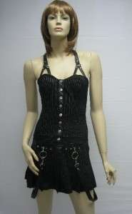 Lip Service Black Mini Dress Punk Rock Gothic XS   XXL