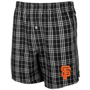 San Francisco Giants Black Plaid Event Boxer Shorts