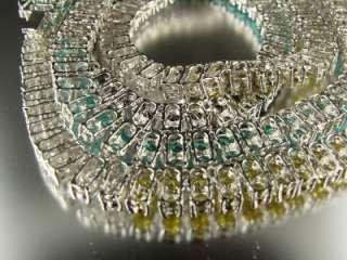 GOLDFINISH MEN 2ROW MULTI COLOR SIMULATED DIAMOND CHAIN