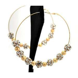 Gold Lady Gaga Paparazzi Basketball Wives Earring with