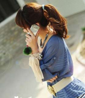 NEW Crystal Rhinestone Korea Pearl Swallow Bead Ribbon Handmade Braid