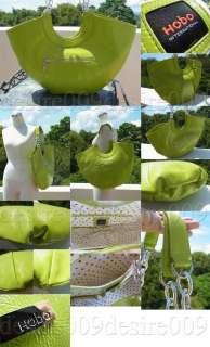 NWOT Lime Green Hobo International Patent Handbag
