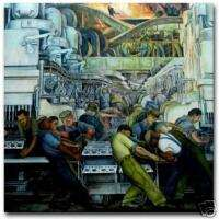 Diego Rivera Detroit Industry Mural Art Ceramic Tile