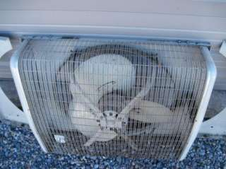 Montgomery Ward Commercial Window Box Fan 3 Speed Reversible