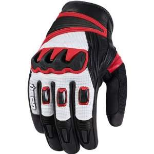 Icon Compound Short Mens Mesh On Road Motorcycle Gloves