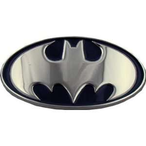 Licensed BATMAN Logo Belt Buckle Silver Black NWT NEW