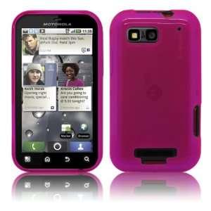 Cbus Wireless Hot Pink Flex Gel Case / Skin / Cover for Motorola Defy