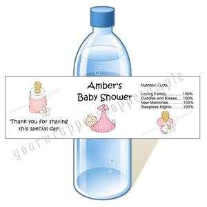 BABY SHOWER Water Bottle Labels WATERPROOF Favors CuTe