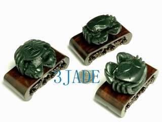 Natural Nephrite Jade Carving Crab Figurine