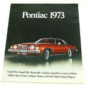 1973 73 DLX PONIAC BROCHURE Grand Prix LeMans Firebird