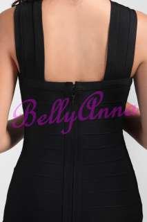 Black Bodycon Tight Cocktail Formal Club Bandage Dress