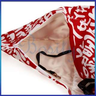 Red White Sling Pet Carrier Cat Dog Tote Single Shoulder Bag Oxford