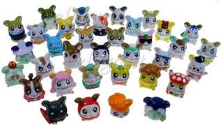 Cartoon Hamtaro Hamutaro Hamster 6 Figures Toy Set