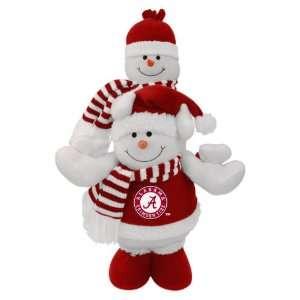 18 NCAA Alabama Crimson Tide Plush Double Stacked Snowman
