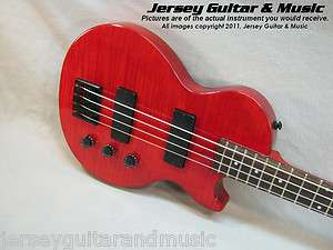 Epiphone Les Paul Special Bass Guitar, Trans Red