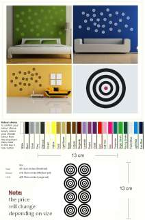X28 TARGET SPOT DOT MODERN WALL ART DECAL STICKER kids vinyl stencil