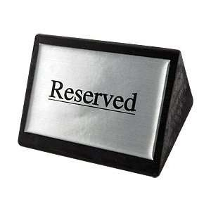 Reserved Tabletop Wood Block Sign Kitchen & Dining