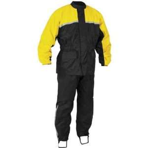 2012 RIVER ROAD HIGH N DRY 2 PIECE RAINSUIT (XX LARGE) (BLACK/YELLOW)