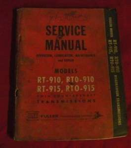 Service Manual Fuller Twin Countershaft Transmission