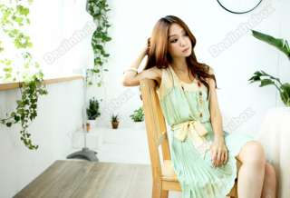 New Korea Fashion Girls and Womens Sweet Summer Chiffon Vest Pattern
