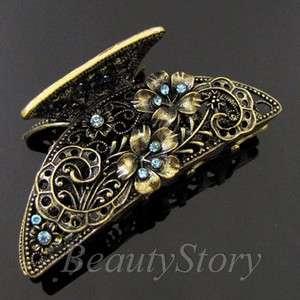 1 pc rhinestone crystal Antiqued hair claw clip