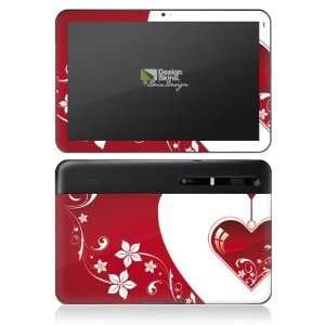 Design Skins for Motorola Xoom   Christmas Heart Design