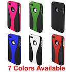 NEW APPLE IPHONE 4 4S 3 PIECE HARD CASE COVER + FULL BODY PROTECTOR