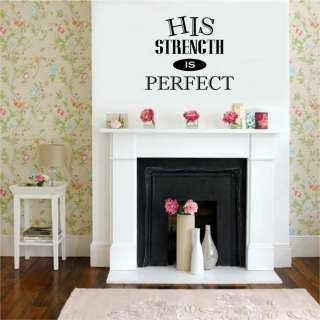 Is Perfect Christian Vinyl Wall Decal Stickers Lettering Words