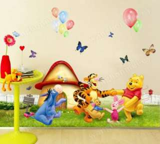 the Pooh + Meadow Removable PVC Wall Sticker Kids Home Decor