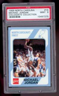 1989 North Carolina Michael Jordan #18 PSA 9 Collegiate