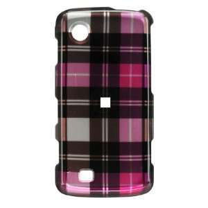 LG Chocolate Touch VX8575 Verizon Pink Plaid Protector Case Cell