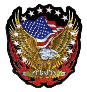 FLAG EAGLE BIKER PATCH P1422 new jacket iron iron on sewon patches new