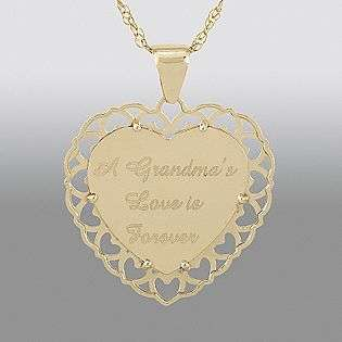 Gold Grandma Heart Pendant  Jewelry Diamonds Pendants & Necklaces