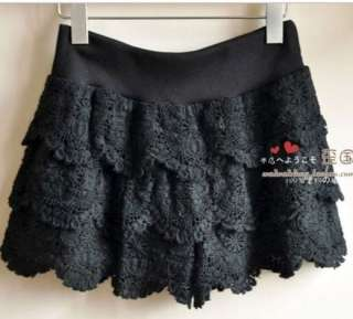 New Sexy lace shorts dress short girls Tiered pants