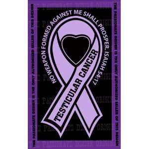 Testicular Cancer Ribbon Decal 4 X 7 Everything Else