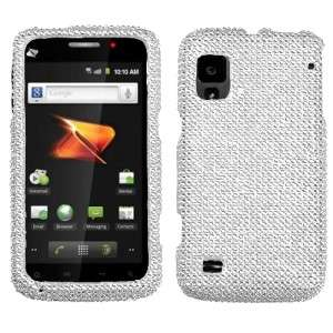 For ZTE Warp Crystal Diamond BLING Hard Case Phone Cover Silver