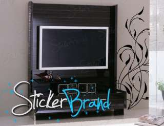 Vinyl Wall Decal Sticker Floral Vines Decor