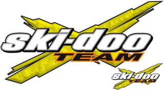 Ski Doo Logo Decal TEAM X vinyl sticker graphic
