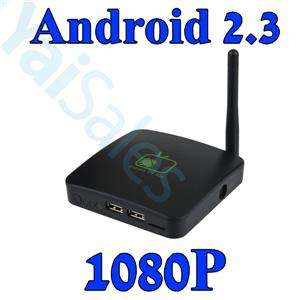 HDTV Google Android 2.3 Internet TV Box WIFI Media Player 1080P A9 NEW