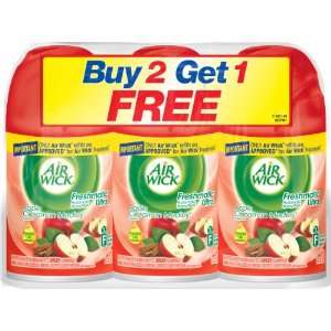 Air Wick Freshmatic Ultra Refill, Apple Cinnamon Medely, 6.17 Ounce, 3