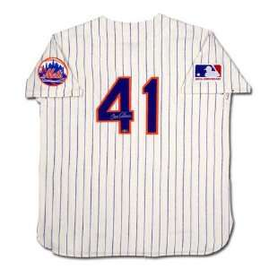 com Tom Seaver New York Mets Autographed Mitchell & Ness 1969 Model