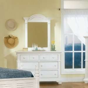 Cottage Traditions Double Dresser and Mirror Set in Distressed