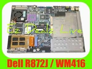 NEW DELL LATITUDE D630 MOTHERBOARD & BASE ASSY PN WM416 with R872J