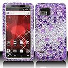 Silver Crystal Diamond BLING Hard Case Cover for Motorola Droid Bionic