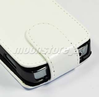 FLIP LEATHER CASE COVER SAMSUNG GALAXY ACE S5830 WHITE